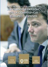 XIV – Curso de Derecho de la Competencia