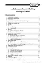 Anleitung zum Internet Banking der Degussa Bank - bei der ...