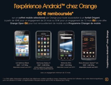 l'expérience Android TM chez Orange - Orange mobile