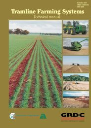 Tramline farming systems : technical manual - Department of ...