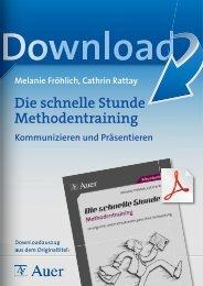 Die schnelle Stunde Methodentraining - Auer Verlag