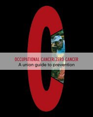occupational cancer/zero cancer - International Metalworkers ...