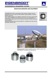 Catalogue Radiation Sensors and Acc, English - Eigenbrodt Gmbh ...