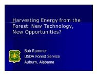 Harvesting Energy from the Forest: New Technology, New ...