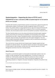 Systemintegration – Supporting the future of ETCS ... - Frequentis