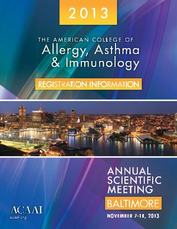 Educational Program - American College of Allergy, Asthma and ...
