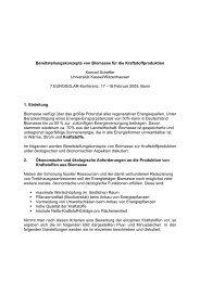 Bereitstellungskonzepte von Biomasse für die ... - Universität Kassel