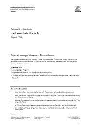 Externe Evaluation. Kantonsschule Küsnacht