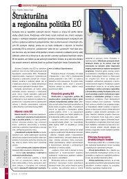 Štrukturálna a regionálna politika EÚ