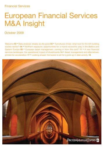 European Financial Services M&A Insight