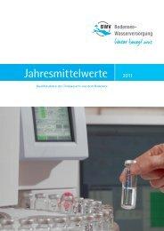 Jahresmittelwerte - Zweckverband Bodensee-Wasserversorgung