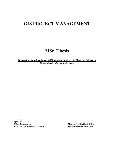 project management dissertation