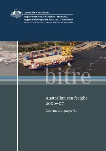 Australian sea freight 2006–07 - International Transport Forum