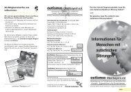 Informationen für Menschen mit autistischen ... - Autismus Oberbayern