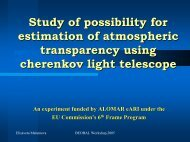 Study of the Possibility for Estimation of Transparency of the ...