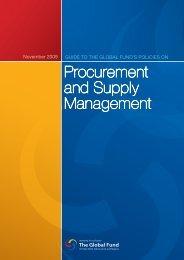 Procurement and Supply Management - World Health Organization