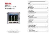E-PR-100 Kağıtsız Kayıt Cihazı Kullanım Kılavuzu - Elimko