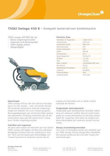 TASKI Swingo 450 B – Kompakt batteridriven ... - Orange Clean AB
