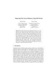 Improving Web Access Efficiency Using P2P Proxies - Clemson ...