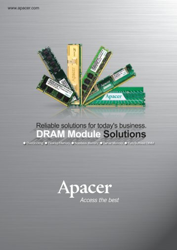 FB-DIMM for - Apacer enews