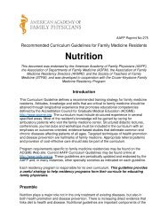 Nutrition - American Academy of Family Physicians