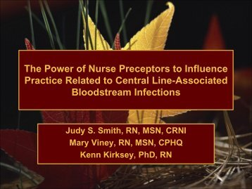 The Power of Nurse Preceptors to Influence Practice Related ... - IUPUI
