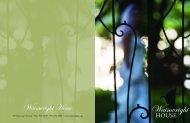 Wedding Brochure - Wainwright House