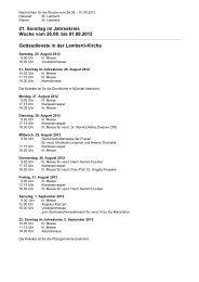 PFARREI AKTUELL vom 26. August bis 1. September ... - St. Lamberti