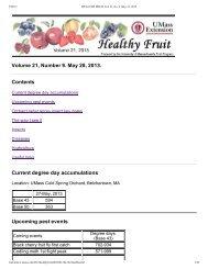 HEALTHY FRUIT Vol. 21, No. 8, May 21, 2013
