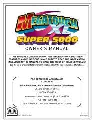 Megatouch XL Super 5000 Manual