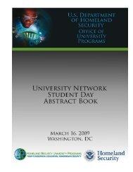 University Network Student Day Abstract Book - Oak Ridge Institute ...