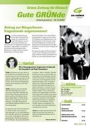 Gute GRÜNde - Grüne Zeitung für Dietach - März 2010