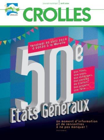 avril 2010 journal municipal - ville de Crolles