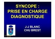 SYNCOPE : PRISE EN CHARGE DIAGNOSTIQUE