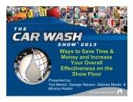 View the webiar - International Carwash Association