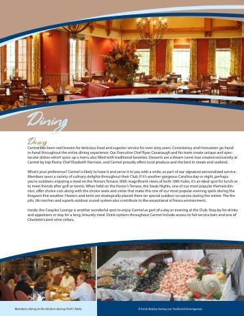 Dining - Carmel Country Club