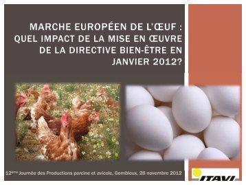 Marché européen de l'oeuf - FACW