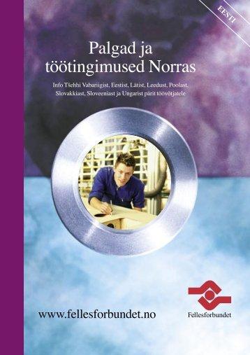 Palgad ja töötingimused Norras - agri-migration