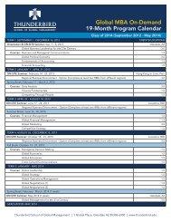 Global MBA On-Demand 19-Month Program Calendar - Thunderbird ...