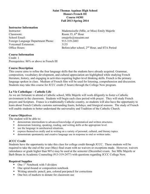 FR 3 syllabus 201   pdf - Saint Thomas Aquinas High School