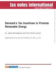 Denmark's Tax Incentive to Promote Renewable - Corit Advisory