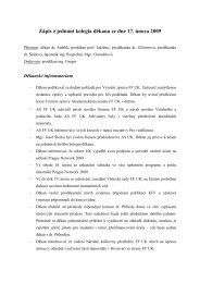 Zápis z jednání kolegia děkana ze dne 17. února 2009