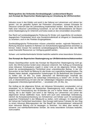Position-Konzept KM - vds Verband Sonderpädagogik in Bayern