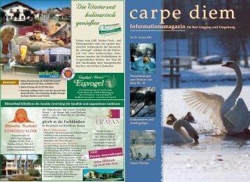 Die Winterzeit kulinarisch genießen Die ... - carpe diem magazine