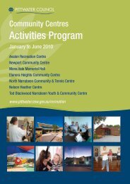 Community Centres Activities Program - Pittwater Council