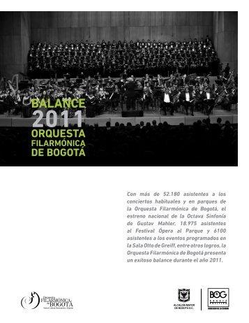 BALANCE - Orquesta Filarmónica de Bogotá