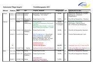 Fortbildungsplan 2011 - Ambulante Pflege Angeln