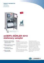 mCERTs BÜHLER 4010 stationary sampler - HACH LANGE