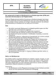 APA Qualitäts- Handbuch - Ambulante Pflege Angeln