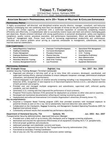 Aviation resume writing service